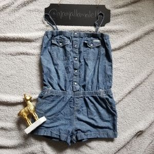 Roxy Chambray Romper